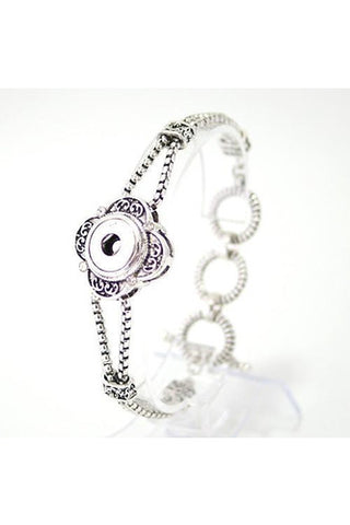 Go All Out Silver Detailed Bracelet - Trendz Snap Jewelry