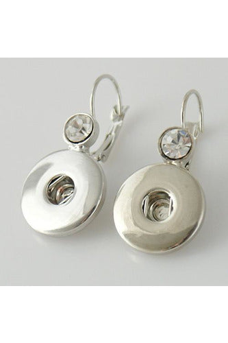 I Said Yes Bling Silver Earrings - Trendz Snap Jewelry