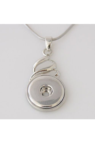 Chasing Charm Silver Necklace Pendant - Trendz Snap Jewelry