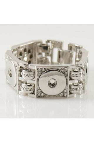 Links of Love Silver Bracelet - Trendz Snap Jewelry