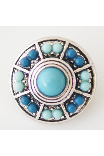 Back To Basics Blue Snap - Trendz Snap Jewelry