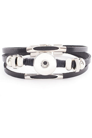 Modern Gal Detailed Bracelet - Trendz Snap Jewelry
