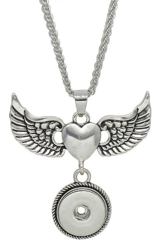Angels of the Heart Necklace - Trendz Snap Jewelry