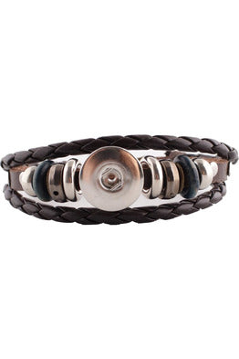 Gracious Brown Leather Wrap Bracelet - Trendz Snap Jewelry