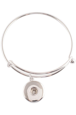 Back to Basics Silver Bangle Bracelet - Trendz Snap Jewelry