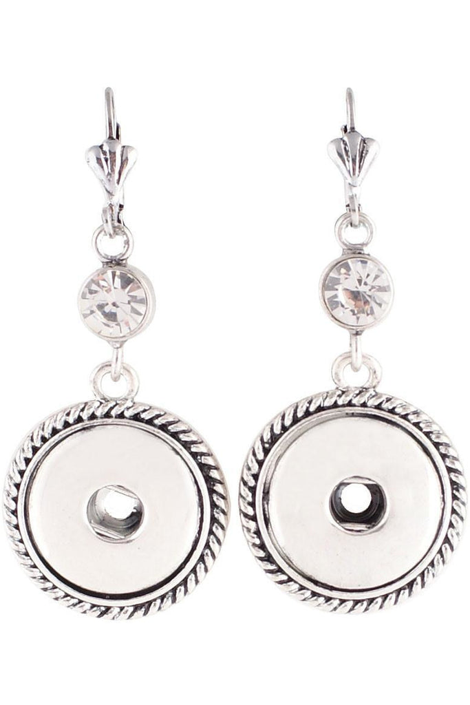 Rhinestone Accent Drop Earrings - Trendz Snap Jewelry