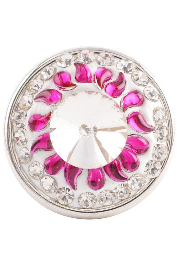Not My Circus Pink and Crystal Clear Snap - Trendz Snap Jewelry