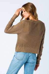 Pullover Cross Front Sweater