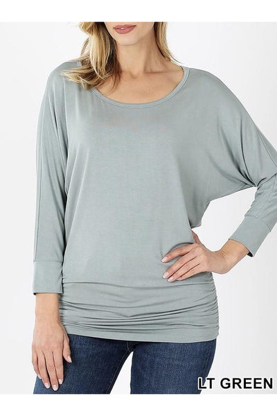Rayon Boat Neck Top 10 Colors