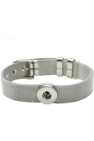 Petite Stainless Steel Buckle Bracelet - Trendz Snap Jewelry