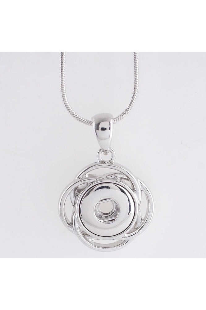 Serenity Silver Necklace - Trendz Snap Jewelry