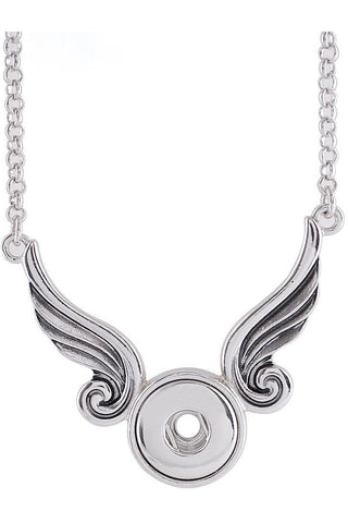 Petite Angel Wing Necklace - Trendz Snap Jewelry