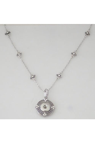 Rhinestone Accent Necklace - Trendz Snap Jewelry