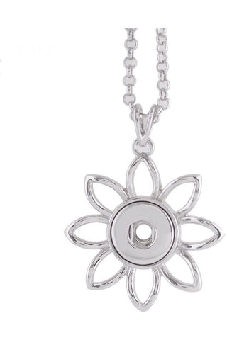Petite Open Flower Necklace - Trendz Snap Jewelry