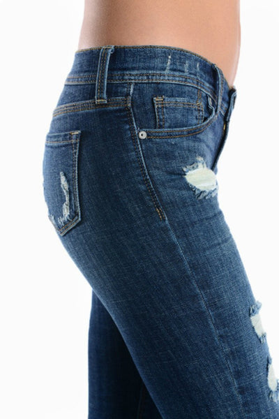 True Love Relaxed Low Rise Distressed Skinny Jeans - Classic Trendz Boutique