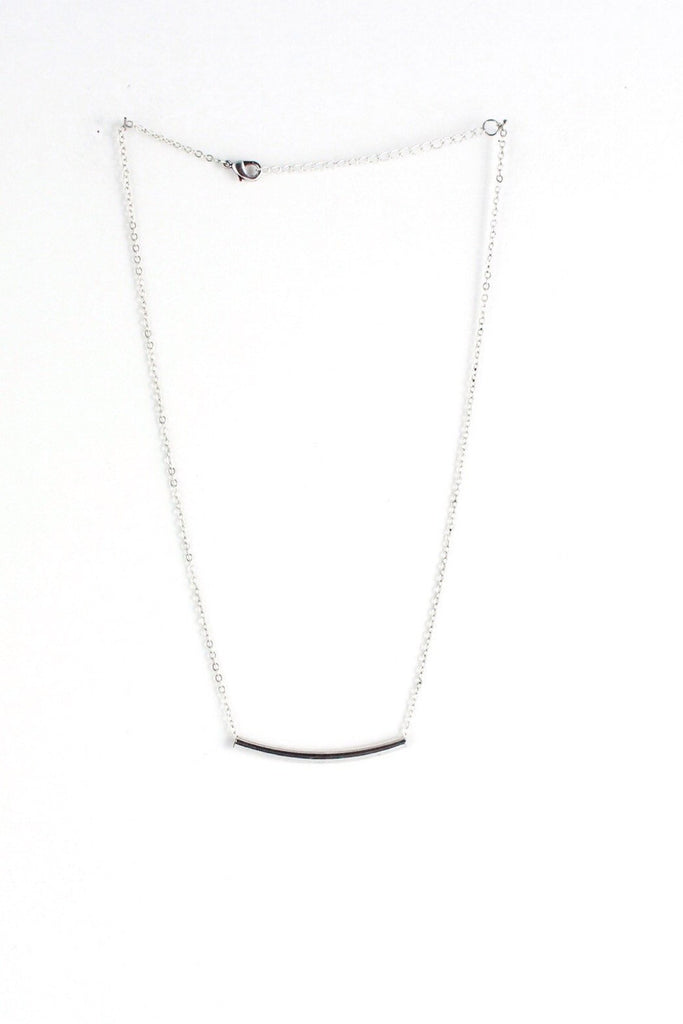 Silver Bar Necklace - Classic Trendz Boutique