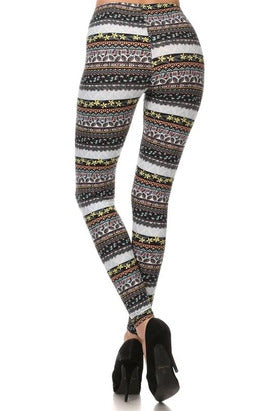 Keep it Trendy Tribal Print Leggings - Classic Trendz Boutique