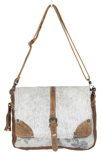 Wendy Cowhide Leather Hairon Messenger Bag