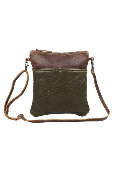 Brown Leather Cross Body Handbag