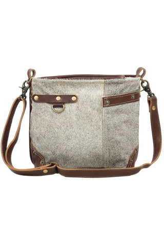 Becky Hairon Leather Shoulder Bag