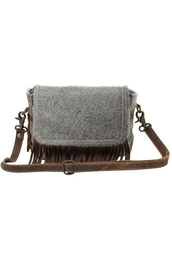 Catherine Leather & Cowhide Shoulder Bag