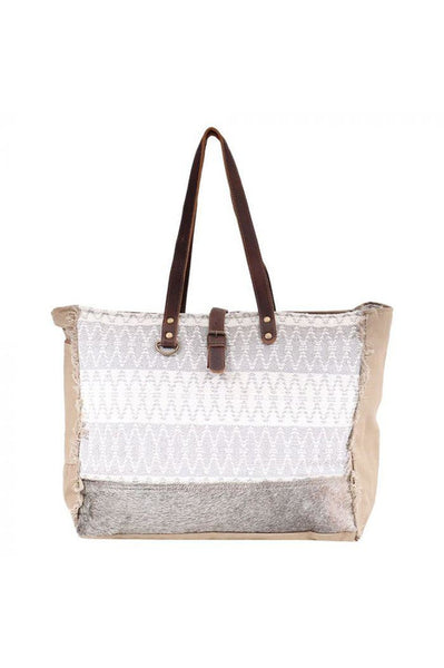 Cathy Canvas & Leather Weekender Bag