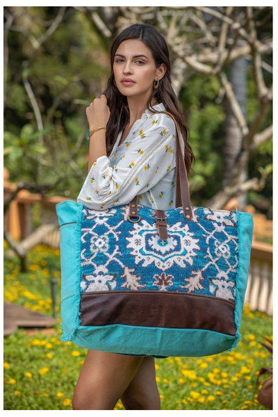 Tabatha Canvas & Leather Weekender Bag