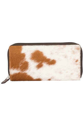 Light Brown Leather & Cowhide Wallet
