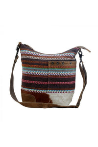 Bright Color Rug Cowhide Handbag