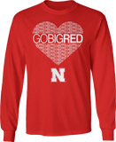 Go Big Red Heart - Nebraska Cornhuskers