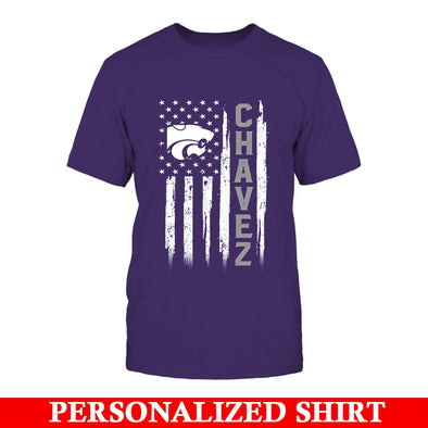 Personalized Shirt - Flag and Name - Kansas State Wildcats