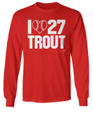 I Heart Number w. Baseball - Mike Trout