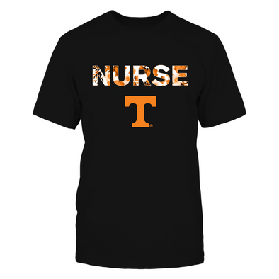 Tennessee Volunteers - Floral Nurse - Next Level Women's Junior Fit Premium T-Shirt - Official
