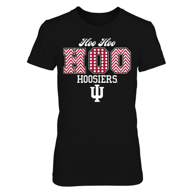Indiana Hoosiers - Patterned Letters - Next Level Women's Junior Fit Premium T-Shirt - Official