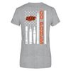Oklahoma State Cowboys - Teacher Things Flag - Next Level Women's Junior Fit Premium T-Shirt - Official