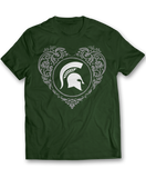 Floral Heart Logo - Michigan State Spartans