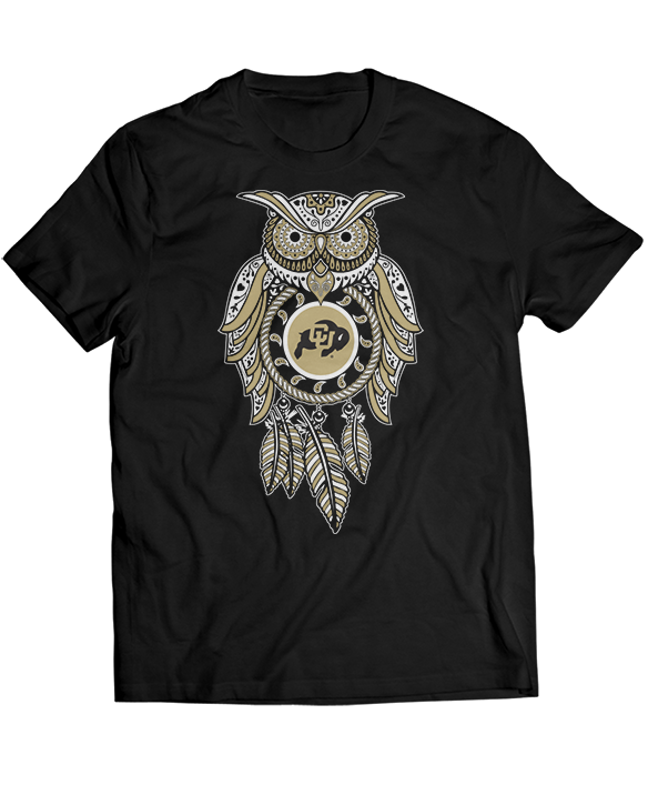 Sugar Skull Owl - Colorado Buffaloes