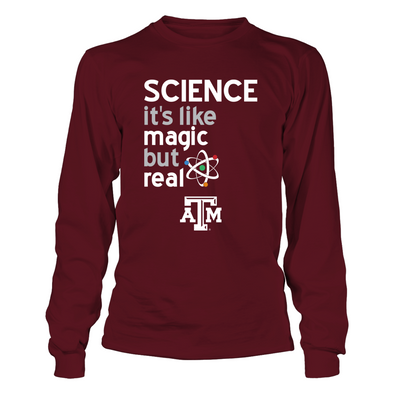 Texas A&M Aggies - Science Lover - Magic But Real - T-Shirt - Official Apparel