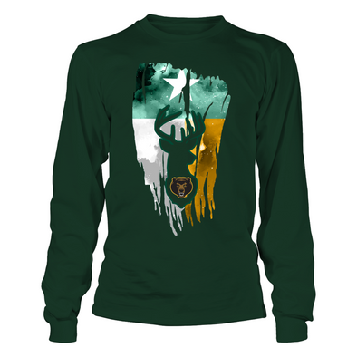 Baylor Bears - Hunting - Deer Inside Color Drop Flag - T-Shirt - Official