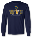 Patterned Letters - West Virginia Mountaineers