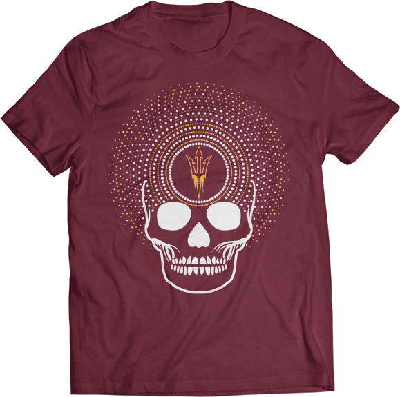 Radiating Skull - Arizona State Sun Devils