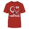 Yadier Molina - Player Heart - Next Level Women's Junior Fit Premium T-Shirt - Official