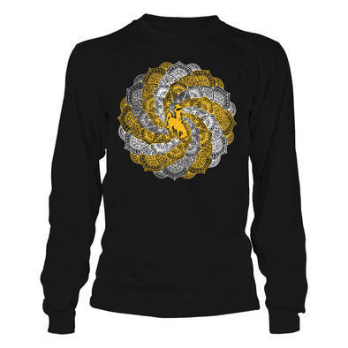 Wyoming Cowboys - Mandala Hurricane - T-Shirt - Officially Licensed Apparel