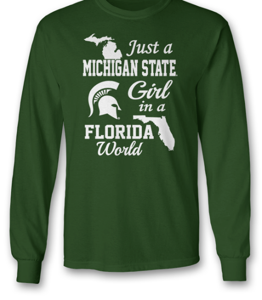 Michigan State Spartans - Girl In A Florida World