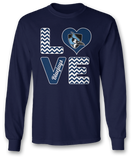 Stacked Love - Johns Hopkins Blue Jays