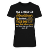 West Virginia Mountaineers - All I Need - Team and All The Dogs - T-Shirt - Official