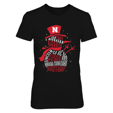 Nebraska Cornhuskers - Snowman of Team Quotes - T-Shirt - Officially Licensed