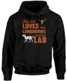 This Girl Loves Her Dog (Labrador) - Texas Longhorns