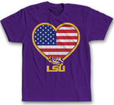 Flag Heart - LSU Tigers