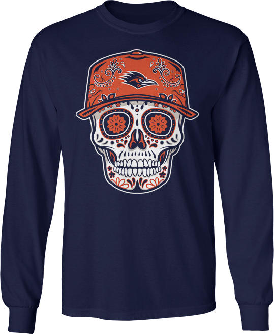 Sugar Skull Baseball Hat - UTSA Roadrunners